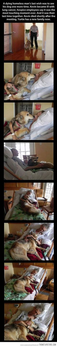 A dying homeless man's final wish was to see his dog one more time…