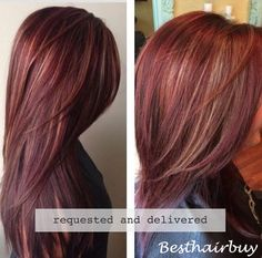 Love this dark red hair, and you can also get it. The way is dyeing the dark red hair with the blonde hair oil,and after it is dry, it must get a beauty color!-Only in #Besthairbuy