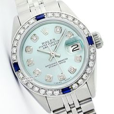 WOMENS ROLEX DATEJUST ICE BLUE DIAMOND & SAPPHIRE WATCH. Get the lowest price on WOMENS ROLEX DATEJUST ICE BLUE DIAMOND & SAPPHIRE WATCH and other fabulous designer clothing and accessories! Shop Tradesy now