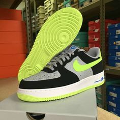 new product d53d3 8b1f6 Nike Air Force 1 Low 488298 077 Reflective Silver Volt Black   Kixify  Marketplace