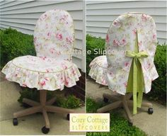 Cozy Cottage Slipcovers: I Am So Going To Have An Office Chair Slipcover  Made For My Chair At Work.