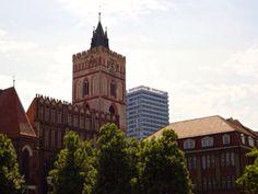 Frankfurt (Oder) mit Oderturm, Marienkirche und Stadtbibliothek
