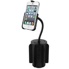 """Ram mount apple iphone 5 cup holder mount over $150. RAM-A-CAN II Flex Arm Holder Mount w/Cradle f/Apple iPhone 5 The cup holder mount consists of the RAM-A-CAN II cup holder base, 6"""" flex arm, diamond base adapter and iPhone 5 cradle. The hole pattern found on the diamond base adapter will connect to most RAM cradles. A durable composite shell construction and soft fins that can be trimmed to fit makes the cup holder mount one of the most portable and versatile """"Go Anywhere"""" products..."""