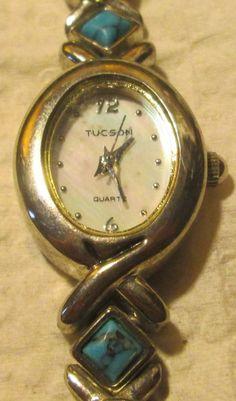 Women's Tucson Turquoise Stone Quartz Wrist Watch, New Battery #Tucson #Fashion