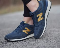 new balance blue and gold sneakers! New Balance Blue, New Balance Shoes, Gold Sneakers, My Outfit, Navy, My Style, Outfits, Fashion, Hale Navy