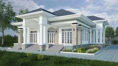 Nhà Bình Phước House Plans Mansion, Sims House Plans, Village House Design, Bungalow House Design, Modern Small House Design, African House, House Design Pictures, Modern Bungalow House, Beautiful House Plans