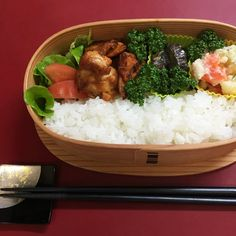 Grilled chicken with hot chili sauce – Japanese lunch box