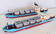 Real Lego Maersk Vessel - Lego 10155