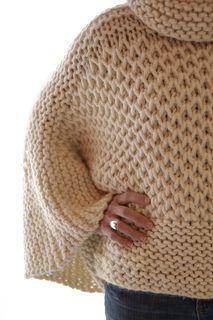 Ravelry: Misti Brioche Honeycomb Sweater pattern by Karen Clements