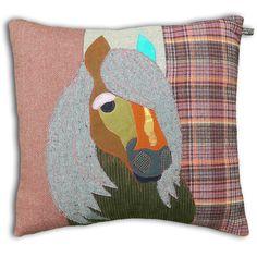 Shetland Pony Cushion by Carola van Dyke
