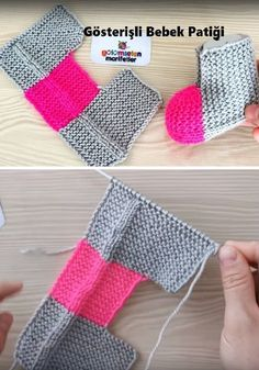 Knit slippers, these slippers are ready quickly, they are knitted on thick needles in one piece, garter stitch Eye-catching baby shoes, # Eye-catching shoes Slippers Free Pattern Video Tutorial – Crochetopedia – … – Instructions for knitted d Baby Booties Knitting Pattern, Knit Baby Booties, Crochet Baby Shoes, Knitting Patterns, Free Knitting, Baby Knitting, Baby Scarf, Knitted Slippers, Baby Blog
