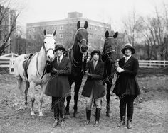 Equestrian Riders with Horses 1927 Vintage 8x10 Reprint of Old Photo | eBay