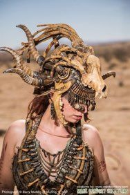 Wasteland Priestess costumeMade for Wasteland WeekendPhoto © Barry Mulling