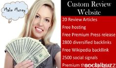 What You'll Get: Premium, Custom WordPress Website from a USA-based Web Designer - Your website will not only be SEO optimized but also built-in security and performance, and SEO.   The website will be professionally designed and 100% unique to YOU. (Worth $500). One year free hosting of your website. If you choose, I will help host your website for 365 days without any charge. (Worth $250). Free domain name registration. (Worth $15). 20 SEO optimized 1500 review article on products in your…