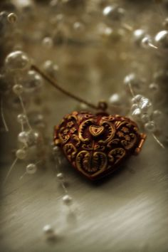 still life photography heart pearls by judeMcConkeyPhotos on Etsy, $35.00