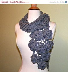 Hey, I found this really awesome Etsy listing at https://www.etsy.com/listing/191152278/christmas-in-july-sale-gray-flower-scarf