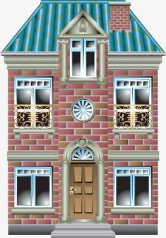 This high quality free PNG image without any background is about house, building, home, wood house and concrete house. House Clipart, House Vector, Building Illustration, House Illustration, Amsterdam Houses, Cartoon House, Doll House Crafts, Cottage Art, 3d Laser