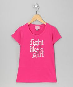 e0f9f393 Take a look at this Hot Pink 'Fight Like a Girl' Tee - Infant, Toddler &  Girls by Pink Ribbon Collection by T-Shirt Tutu on today!