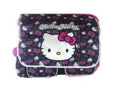 4014763e512c Sanrio Black and Pink Face Hello Kitty Messenger Bag - Hello Kitty Laptop  Bag Various