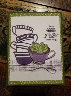 Stampin' Up Paper Pumpkin February 2019 Stampin Up Paper Pumpkin, Pumpkin Cards, Diy Cards, Handmade Cards, Cardmaking, Tea Cups, Paper Crafts, My Favorite Things, Projects