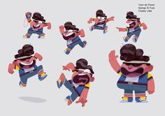 Here are some visual development/character designs I did for Spongo & Fuzz, a project from the great guys at Cheeky Little !