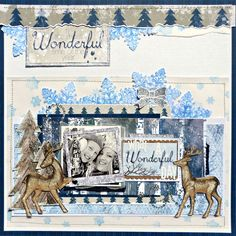 One layout 3 ways with Tracee Provis for Bo Bunny featuring the Sleigh Ride Collection and the Snowflake Stamp Set. #BoBunny @fluffyasever