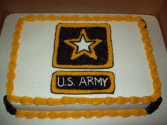 military party on Pinterest  Army Cake, Welcome Home Parties and ...