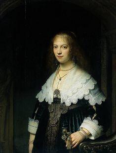 Rembrandt 'Portrait of Maria Trip' 1639 Oil on panel