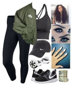 """""""Hover board in school"""" by lexiii-caniff ❤ liked on Polyvore featuring NIKE, H&M, women's clothing, women's fashion, women, female, woman, misses and juniors"""