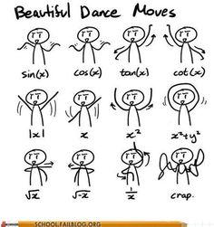 Dance moves of a math nerd. I call it the math cheer! Math Memes, Science Jokes, Math Humor, Calculus Humor, Math Quotes, Physics Humor, Funny Math, Math Puns, Math Math