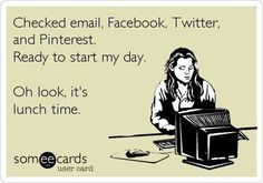 "This is a funny ""e-card"" that caught my attention. It sums up how much time many of us spend on social media sites. Rheingold mentioned that humans have a desire/want to watch other humans and their behavior. Checking these sites demonstrates this want. We just have to be careful how much of our day we waste checking Facebook and try to be more productive."