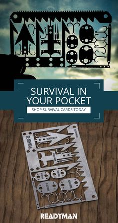 Be prepared for anything the next time you go to the Great Outdoors with Readyman's survival cards. We're there for you, so that you can be ready for everything. Shop today.