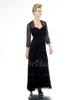 Mother of the Bride Dresses - $142.99 - A-Line/Princess Sweetheart Floor-Length Chiffon Mother of the Bride Dress With Ruffle Beading (00805007168)