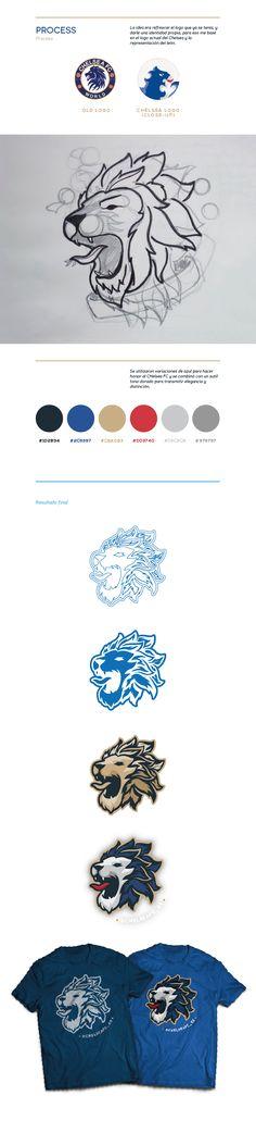 Logo diseñado para el club de fans del Chelsea FC más grande de Latinoamérica.
