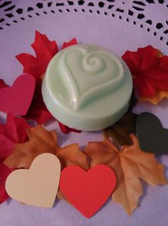 24 Fall wedding hearts in green with Fall by HeartWarmerCandles