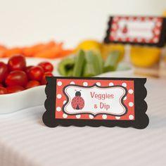 Ladybug Food Tents Birthday Party - Red & Black