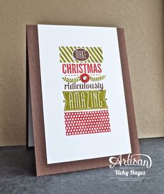 Amazing Christmas using Amazing Birthday by Stampin' Up