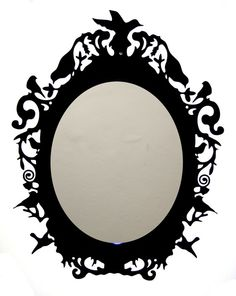 Rococo Laser Cut Acrylic Mirror and Frame