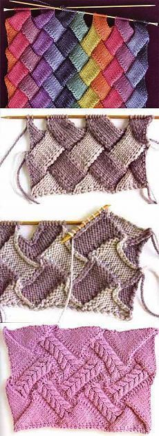 diy_crafts- Entrelac knitting looks scary, but trust me, you can handle it! Here are some tips to help your first venture into entrelac be a success. Knitting Machine Patterns, Knitting Stiches, Lace Knitting, Knit Patterns, Crochet Stitches, Sewing Patterns, Knit Or Crochet, Crochet Baby, Knitting Projects