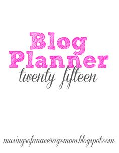 Free Blog Planner Printables The Ultimate Pinterest Party, Week 42