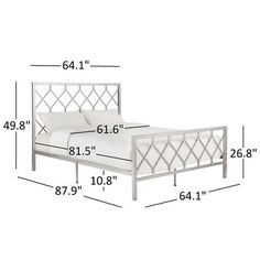 Inspire Q Queen Xander Metal Bed Silver : Target Iron Furniture, Steel Furniture, Furniture Design, Traditional Bedroom Furniture Sets, Twin Full Bunk Bed, Silver Bedding, Wrought Iron Beds, Metal Platform Bed, Steel Bed