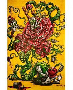 Alice's Nightmare in Wonderland by: Kev Crossley Derwent Inktense + Albrecht…
