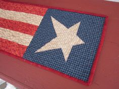 Americana table runner by granniesraggedybags on Etsy