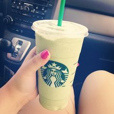 Starbucks green tea frappucino