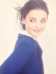 Vintage modeling photos of Miranda Kerr circa 1997.
