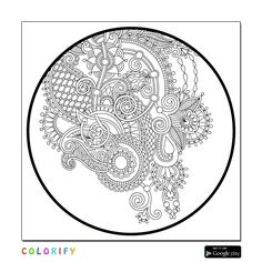 Oriental Colouring In