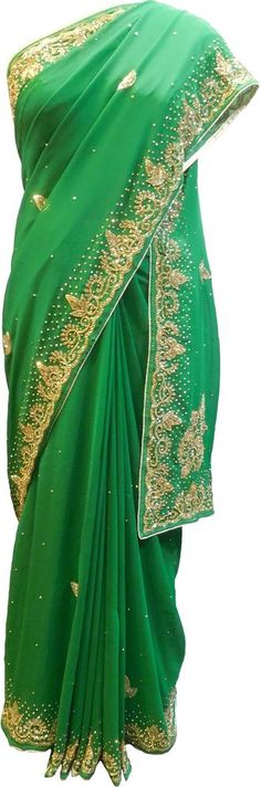 Georgette Fabric, Georgette Sarees, Bollywood Wedding, Indian Party, India And Pakistan, Indian Ethnic, Designer Wear, Traditional Outfits, Party Wear