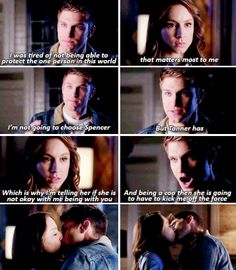 PLL 5x24...it's about time Toby!!!! I'm glad they are back together!! ❤️❤️