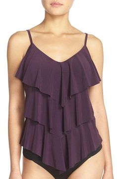 Free shipping and returns on Magicsuit® 'Rita' Tankini Top at Nordstrom.com. Appear slimmer and sleeker in seconds in Magicsuit's cute body-control swimwear designed for the modern woman. Angled tiers drape the front of this forgiving tankini top designed with built-in padded cups for comfortable, confident support.