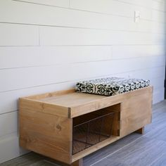 DIY Open Seat Bench, Breakfast Nook, Knotty Pine, Mudroom